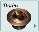 Custom Copper Drains