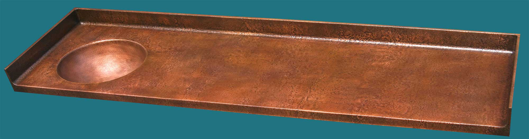 Handcrafted Metal: Copper Countertops and Integral Copper Sinks