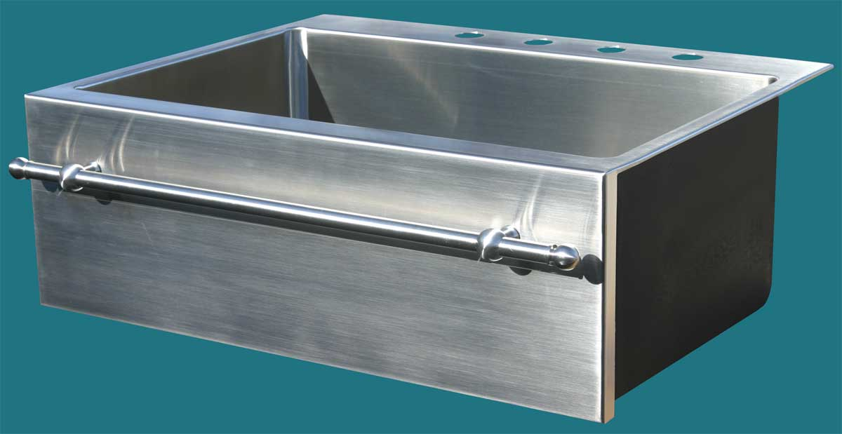 Drop In Apron Sink : ... Hand Made Stainless Steel Apron Sinks, Undermount Sinks, Drop-In Sinks