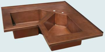 Custom Sinks Copper Special Shape  # 3661