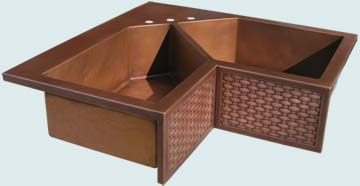 Custom Sinks Copper Special Shape  # 3662