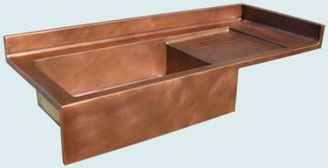 Copper Backsplash Kitchen Sinks # 3681