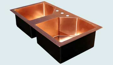 Custom Sinks Copper Special Shape  # 3435