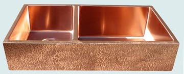 Custom Copper Farmhouse Sinks # 3453