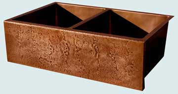 Custom Copper Farmhouse Sinks # 3469