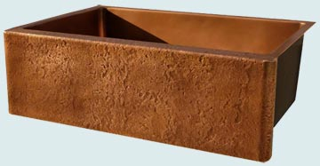 Custom Copper Farmhouse Sinks # 3473