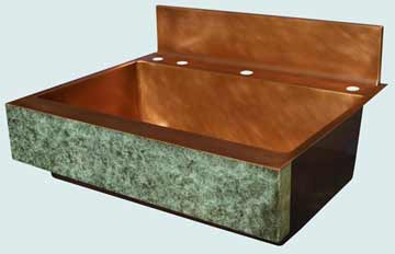 Copper Backsplash Kitchen Sinks # 3474