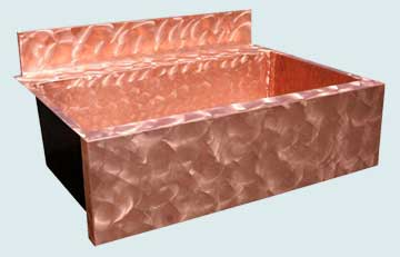 Copper Backsplash Kitchen Sinks # 3562