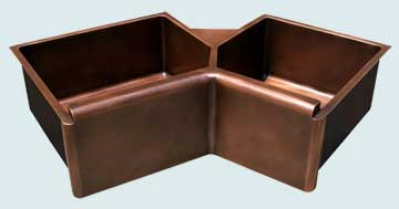 Custom Sinks Copper Special Shape  # 3649