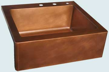 Custom Copper Farmhouse Sinks # 3654