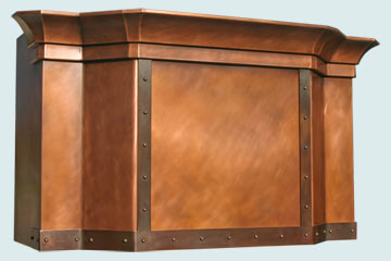 Copper Range Hood # 2497