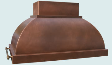 Copper Range Hood # 2446