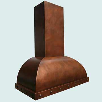 Copper Range Hood # 2762