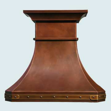 Copper Range Hood # 2773