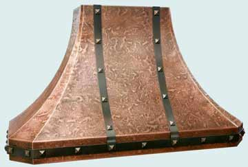 Hammered Copper Range Hood # 2775