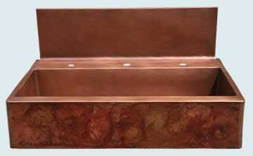 Copper Backsplash Kitchen Sinks # 2778