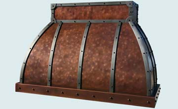 Copper Range Hood # 2789