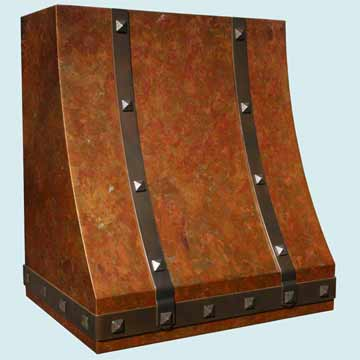 Copper Range Hood # 2796