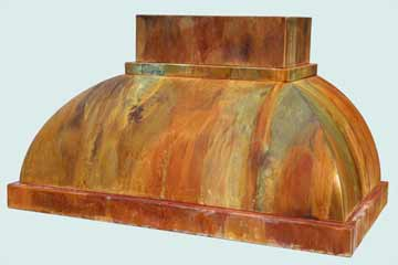 Copper Range Hood # 2802