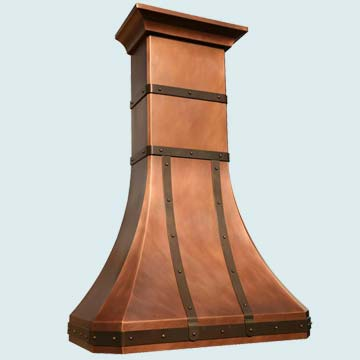 Copper Range Hood # 2809