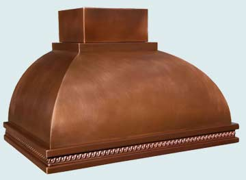 Copper Range Hood # 2956