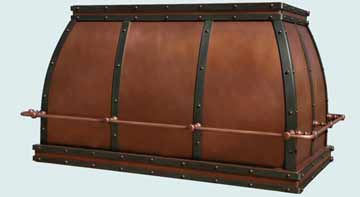 Copper Range Hood # 3017