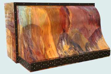 Copper Range Hood # 3058