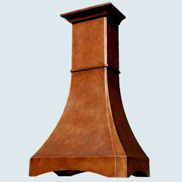 Copper Range Hood # 3115