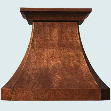 Hammered Copper Vent Hood # 3153