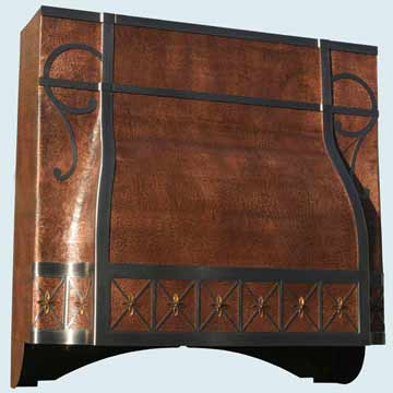 Copper Range Hood # 3162