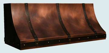 Copper Range Hood # 3168