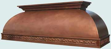 Copper Range Hood # 3208