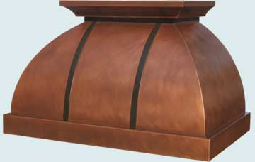 Copper Range Hood # 3242