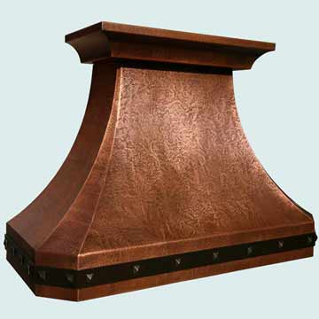 Small copper Range Hood # 3814
