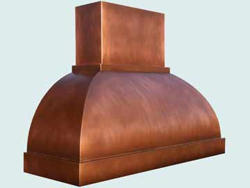 Copper Range Hood # 3953