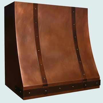 Copper Range Hood # 3957