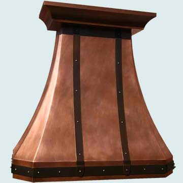 Copper Range Hood # 3958
