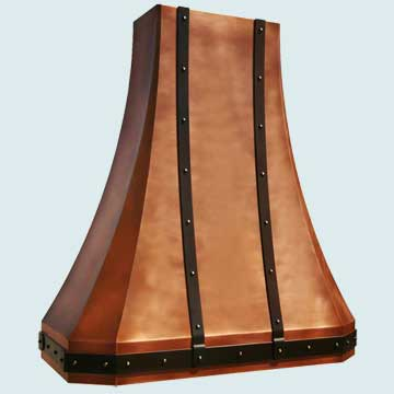 Copper Range Hood # 3963