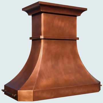 Copper Range Hood # 4208