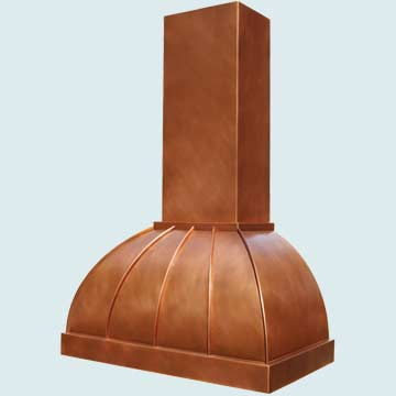 Copper Range Hood # 4236
