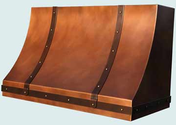 Copper Range Hood # 4335