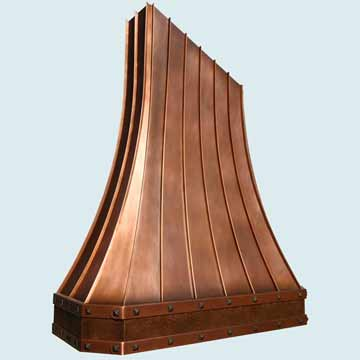 Copper Range Hood # 4348