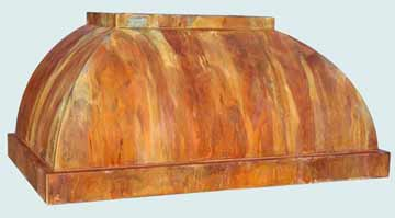 Copper Range Hood # 4364