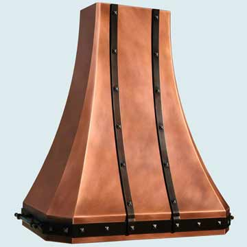 Copper Range Hood # 4389