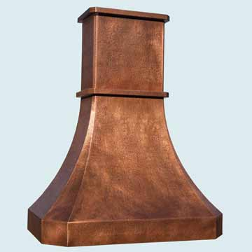Copper Range Hood # 4459