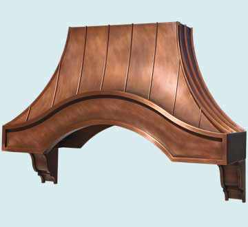 Copper Range Hood # 4609