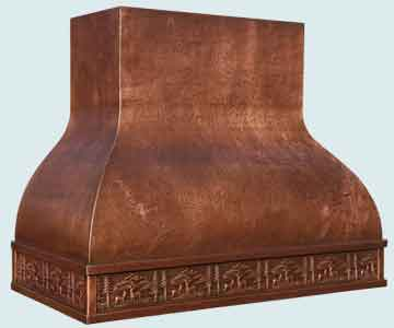 Copper Range Hood # 4647