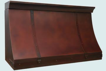 Copper Range Hood # 4654