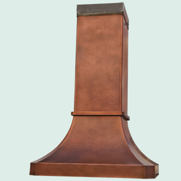 Copper Range Hood # 4846