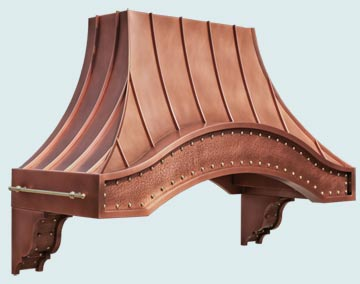 Copper Range Hood # 4879